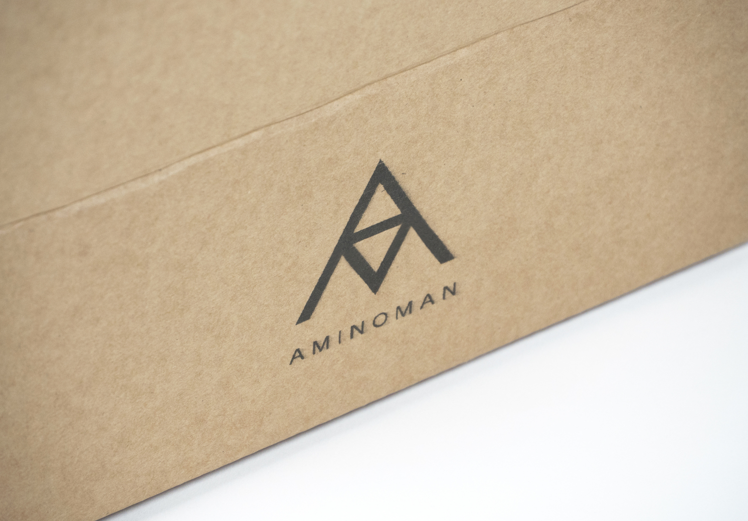 Printed box with an example logo