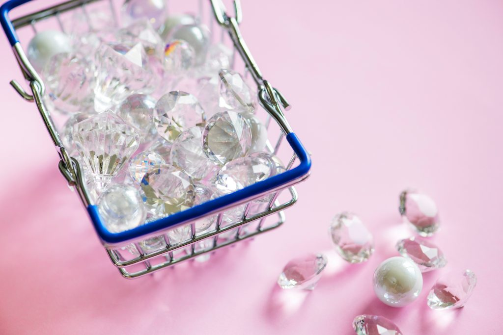 Diamonds in a basket