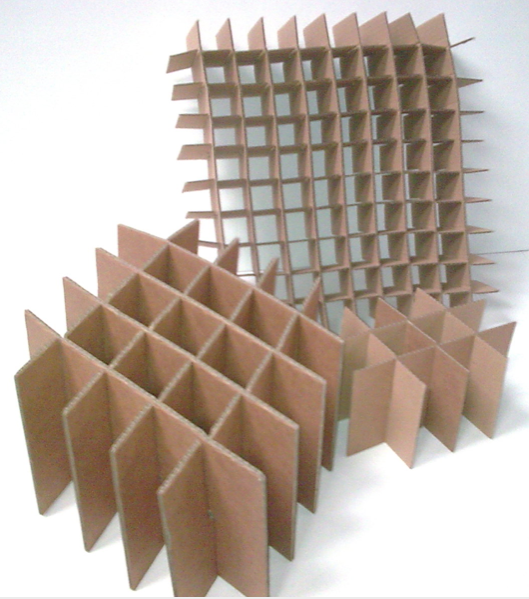 3 cardboard box dividers of varying sizes